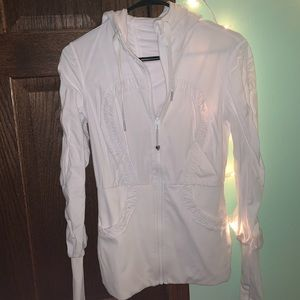 white, reversible lululemon jacket